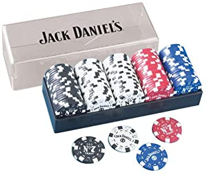 Jack Daniels Clay Poker Chip Set, 100-Piece