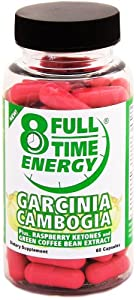 Full-time Energy Garcinia Cambogia Plus Raspberry Ketones And Green Coffee Bean Extract - Extreme Weight Loss Diet Pills - The Best Weight Loss Supplement That Works Fast For Women And Men by Full-Time