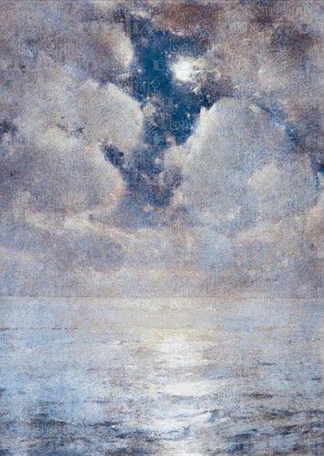 Cloudy Night Moon - Sympathy Greeting Card PDF