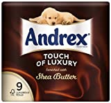 Andrex 9 Roll Shea Butter Touch of Luxury Toilet Tissue 160 Sheets (Pack of 5, Total 45 Rolls)