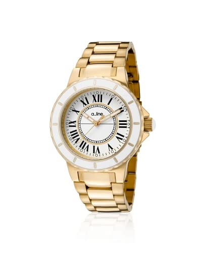 a_line Women's 20015 Marina Gold Ion-Plated Stainless Steel Watch As You See