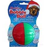 Pet Qwerks CBB1 Holiday Talking Babble Ball 3 1/8 in Large