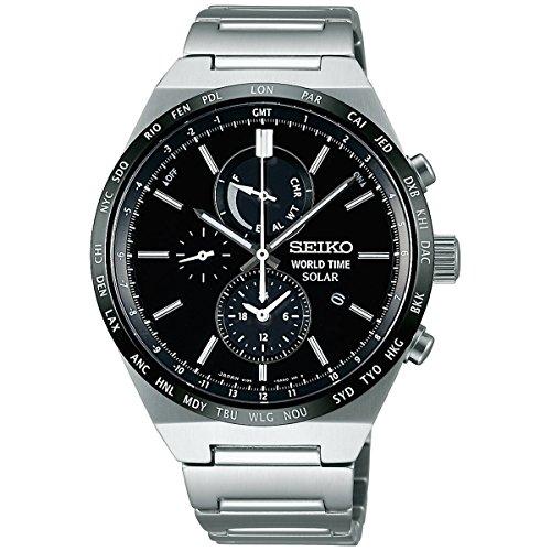 [スピリットスマート]SPIRIT SMART 腕時計 ワールドタイム機能付きソーラークロノグラフ SBPJ025 メンズ