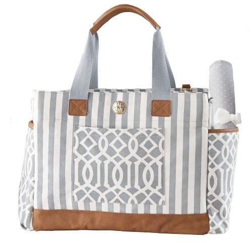 mud pie bigger bundle diaper bag gray baby shop. Black Bedroom Furniture Sets. Home Design Ideas