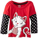 Watch Me Grow! by Sesame Street Baby Girls' 1 Piece Cat Hearts Pullover