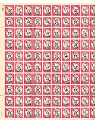 Statue of Liberty Sheet of 100 x11 Cent US Postage Stamps NEW