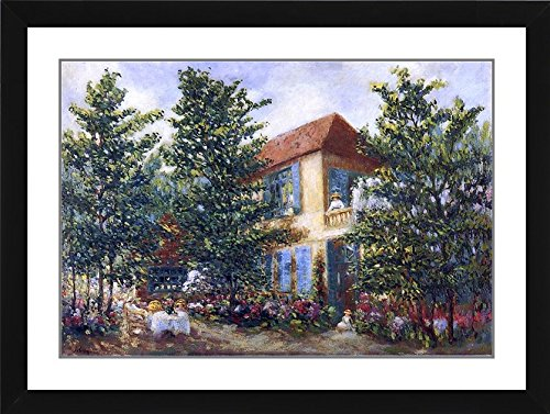 Henri Lebasque After Midday in the Garden (also known as Apres midi d ete au jardin) - 19.25 x 24.25 Matted Framed Premium Archival Print jardin d ete