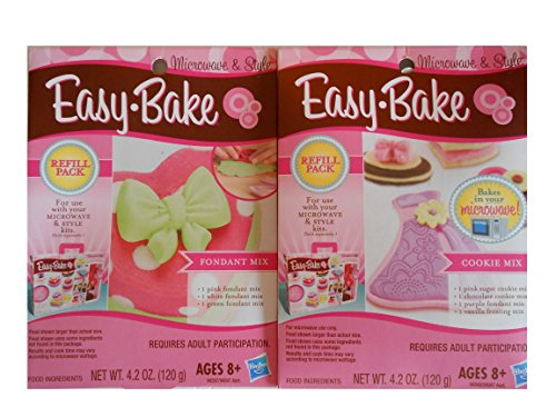 Easy Bake Oven Microwave Style Cookie Mixes & Fondant Mixes Refill Packs New Nib