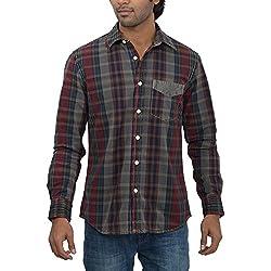 Inego Men's Casual Shirt (Lt.Grey )