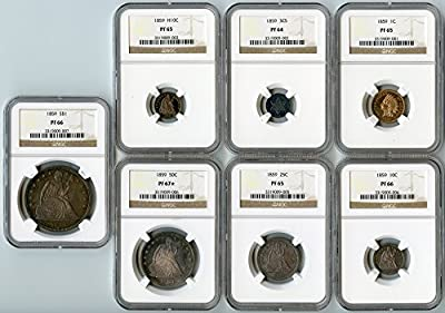 1859 Proof Sets Collection PRRAW NGC
