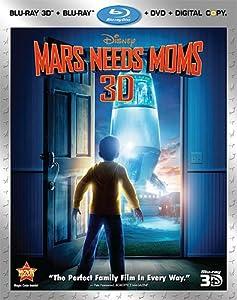 Mars Needs Moms (Four-Disc Blu-ray 3D / Blu-ray / DVD / Digital Copy Combo) by Walt Disney Studios Home Entertainment