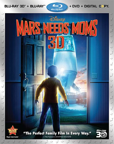 Cover art for  Mars Needs Moms (Four-Disc Blu-ray 3D / Blu-ray / DVD / Digital Copy Combo)