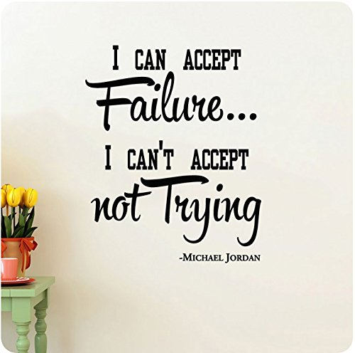 Failure Trying Wall Quote