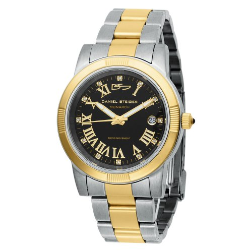 Daniel Steiger Men's 5045-M Monarch Swiss Quartz Two Tone Diamond Watch