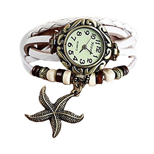 Habors Multiband Watch White Bracelet With Star Charms