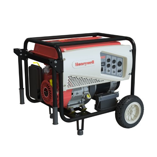 Honeywell 6039 7,500 Watt 420cc OHV Portable Gas Powered Generator with Electric Start