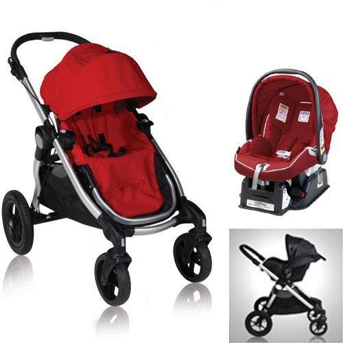 Baby Jogger 81263KIT3 2011 City Select Stroller with Car Seat - Ruby