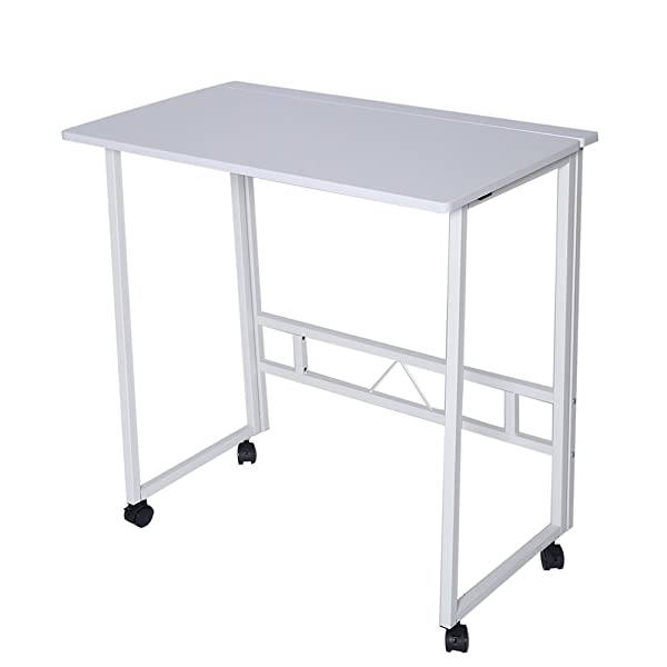 42d1a3aced94 Folding Writing Table Rolling Laptop Notebook Computer Desk with ...