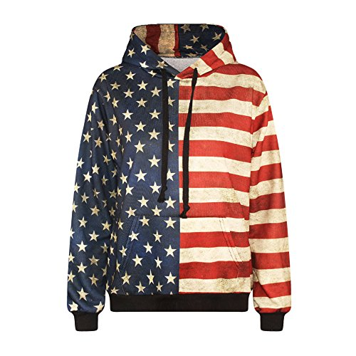 3D Stars and Stripes Design Unisex Hoodie Sweatshirts (XL, Stars and Stripes) (Drake And Lil Wayne Shirt compare prices)