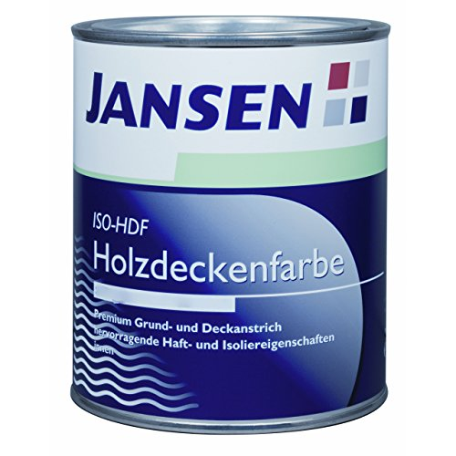 jansen iso hdf holzdeckenfarbe matt wei 750ml grund und deckanstrich. Black Bedroom Furniture Sets. Home Design Ideas