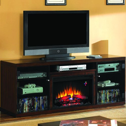 Alexander 70-inch Electric Fireplace Media Console - Midnight Cherry - 26mm1404 image B0096MIOB0.jpg