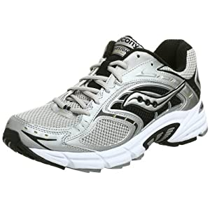 Saucony Men's Grid Cohesion NX Running Shoe,Silver/Black/Gold,12.5 W