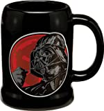 Vandor 99279 Star Wars Darth Vader 20 oz Ceramic Stein, Black, Red, and White