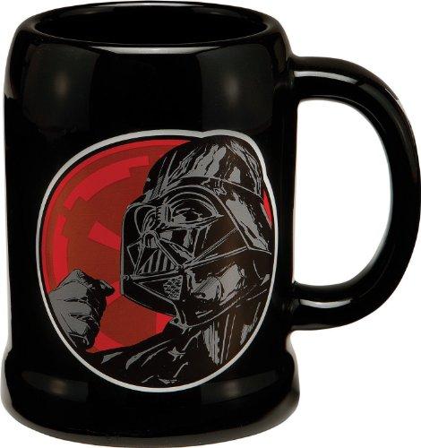 Vandor 99279 Star Wars Darth Vader 20 oz Ceramic Stein, Black, Red, and White - 1