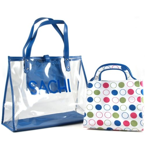 Sachi Insulated Fashion 2-Tote Set Style, Blue - 1