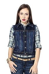 People Women's Cotton Down Jackets (P20402114730250_Mid Indigo_M)