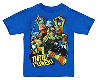 Teenage Mutant Ninja Turtles TMNT Turtle Power Cartoon Team Juvenile T-Shirt Tee