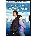 Two Weeks Notice (Snapcase, Widescreen) ~ Sandra Bullock