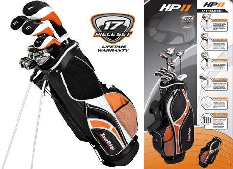 Tour Edge Men's HP-11 Complete Set (Right Hand, Graphite/Steel +1-Inch, Regular, Complete Set, Black)