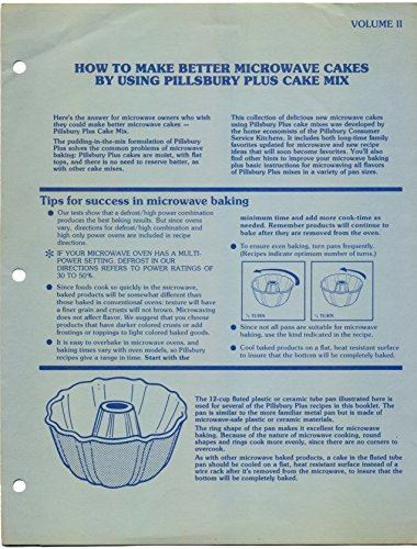 How To Make Better Microwave Cakes By Using Pillsbury Plus Cake Mix, Volume II (Pillsbury Plus Cake Mix compare prices)