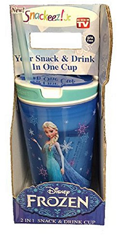 Snackeez Jr in Blue ~ Disney Elsa (2 in 1 Snack and Drink in One Cup)