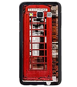 Printvisa Vintage Telephone Booth Pic Back Case Cover for Samsung Galaxy A5::Samsung Galaxy A5 A500F