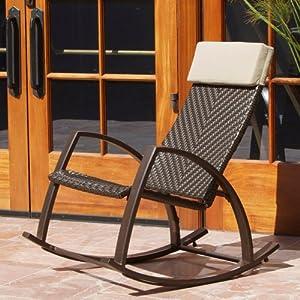 Barcelona Wicker Rocker Chair