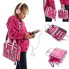 Ultimate Addons Girls Handbag Audio Bundle for LeapFrog LeapPad Ultra including Pink Headphones (Pink)