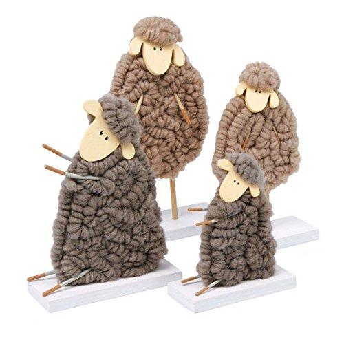 Deko Schaf Aus Holz Und Wolle ~ small foot company 5688 Dekofiguren Deko Schaf Wollis, 4er Set