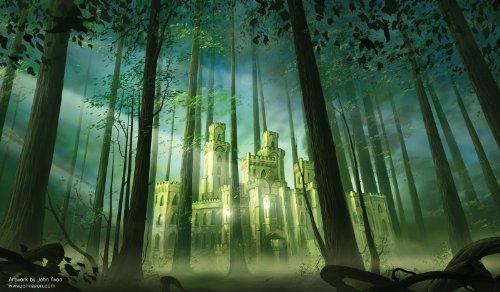artisti-di-magia-premium-playmats-foresta-castello-autografate-dallartista-john-avon