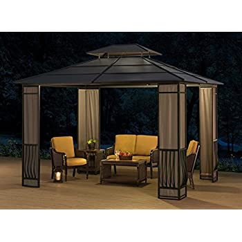 sunjoy 10 x 12 Heavy Duty Galvanized Steel Hardtop Wyndham Patio Gazebo