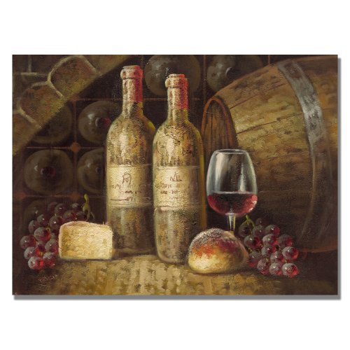 Trademark Fine Art Napa Valley by Master's Art Canvas Wall Art, 35x47-Inch (Cheese Wall Art compare prices)