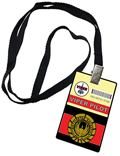 [Viper Pilot Novelty ID Badge Prop Costume Battlestar Galactica] (Galactica Costumes)