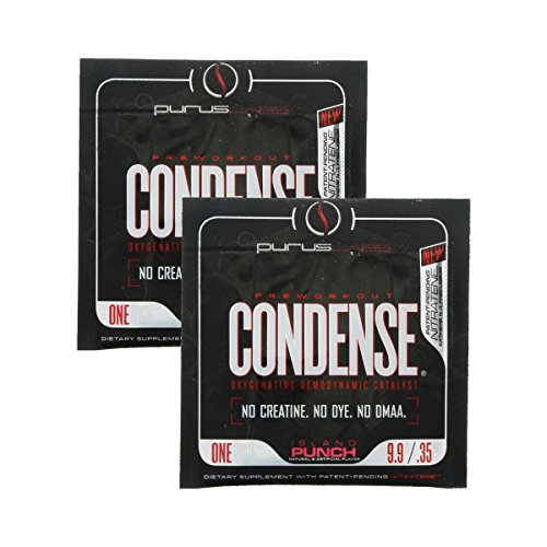 Condense By Purus Labs, Sample Pack - Extreme Vasodilation Pre-Workout Powder (2 Sample Packets) (Island Punch)