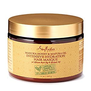 SheaMoisture Manuka Honey & Mafura Oil Intensive Hydration Masque, 12 Ounce
