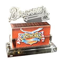 MLB Atlanta Braves Business Card Holder in Gift Box by Caseworks