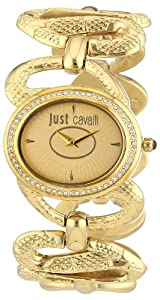 Just Cavalli Women's R7253577501 Sinuous Gold Ion-Plated Coated Stainless Steel Swarovski Crystal Watch