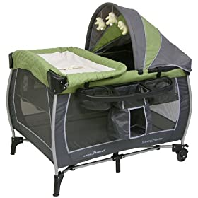 Baby Trend Columbia Play Yard - Green - Gray