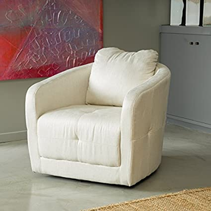 Bernhoft Swivel Beige Linen Armchair