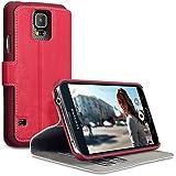 Terrapin Étui Housse en Cuir Ultra-mince Avec La Fonction Stand pour Samsung Galaxy S5 - Rouge